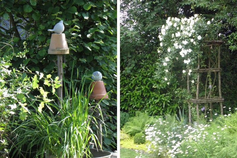 La d coration du jardin visitez le jardin de genevi ve for Deco originale jardin