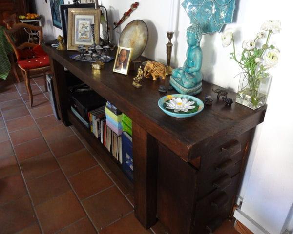 un tabli vieux de 150 ans des meubles vintage relook s avec brio journal des femmes. Black Bedroom Furniture Sets. Home Design Ideas