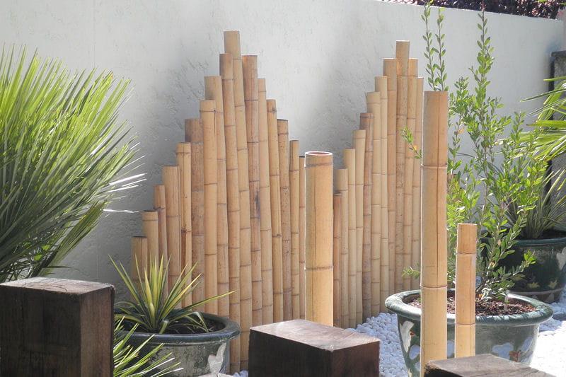 Panneaux de bambou un jardin japonais facile for Separation bois pour jardin