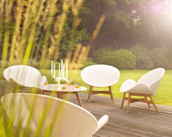 salon de jardin dansk de gloster salon de jardin 40. Black Bedroom Furniture Sets. Home Design Ideas