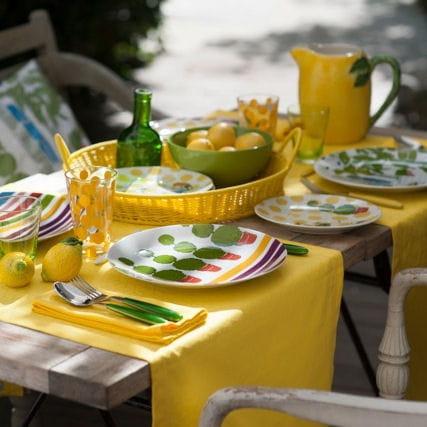 Assiette le temps d 39 un t de genevi ve lethu la d co de table aux coul - Assiette genevieve lethu ...