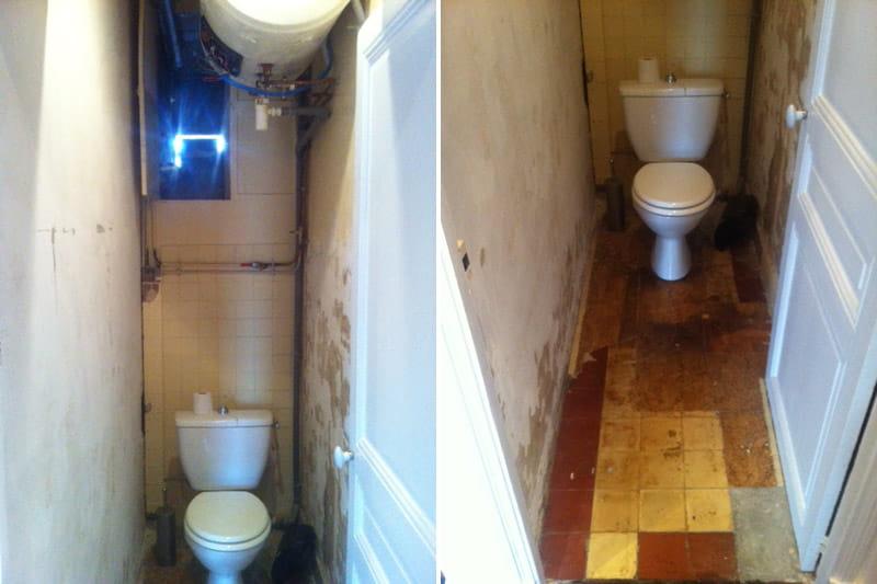 avant des toilettes au fond d un couloir avant apr 232 s la renaissance d un appartement de