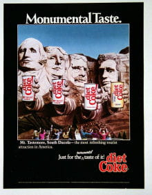 diet coke rushmore
