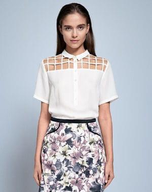 chemise blanche ajour e de zalando des jolis tops pour le printemps journal des femmes. Black Bedroom Furniture Sets. Home Design Ideas