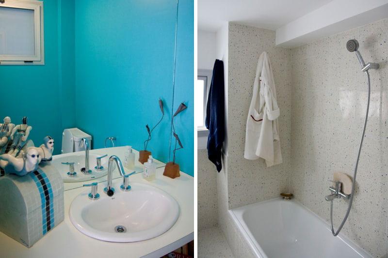Deco chambre bebe marron et bleu salon bleu turquoise et for Salle de bain turquoise et marron