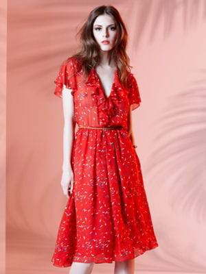 Robe rouge printemps ete 2013