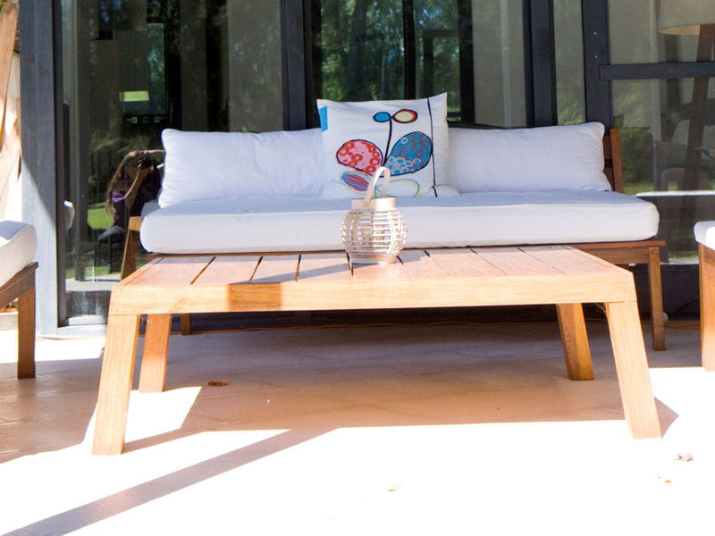 Canap de jardin salon de jardin les plus belles - Canape teck jardin ...