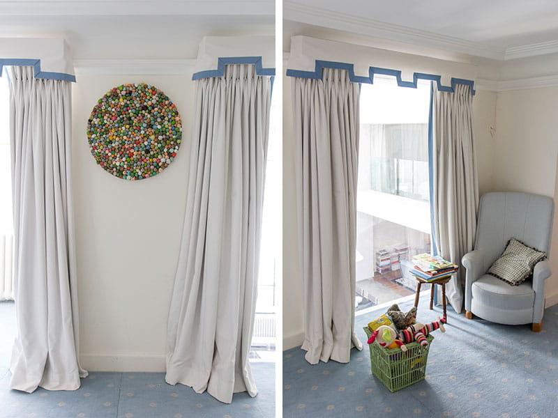 des rideaux de ch telain dans la chambre d 39 enfant un duplex l 39 esprit loft et la d co. Black Bedroom Furniture Sets. Home Design Ideas
