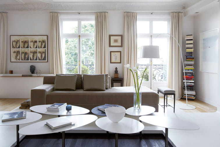 Rideau Pour Salon Noir Blanc : Salon beige et taupe