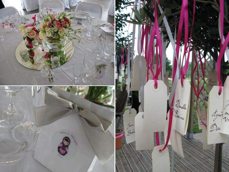 de mariage dété vue par des wedding-planner En rose et gris ...