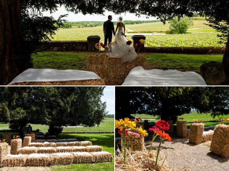 Un mariage tr s champ tre par weday 39 s d coration de for Decoration champetre campagne