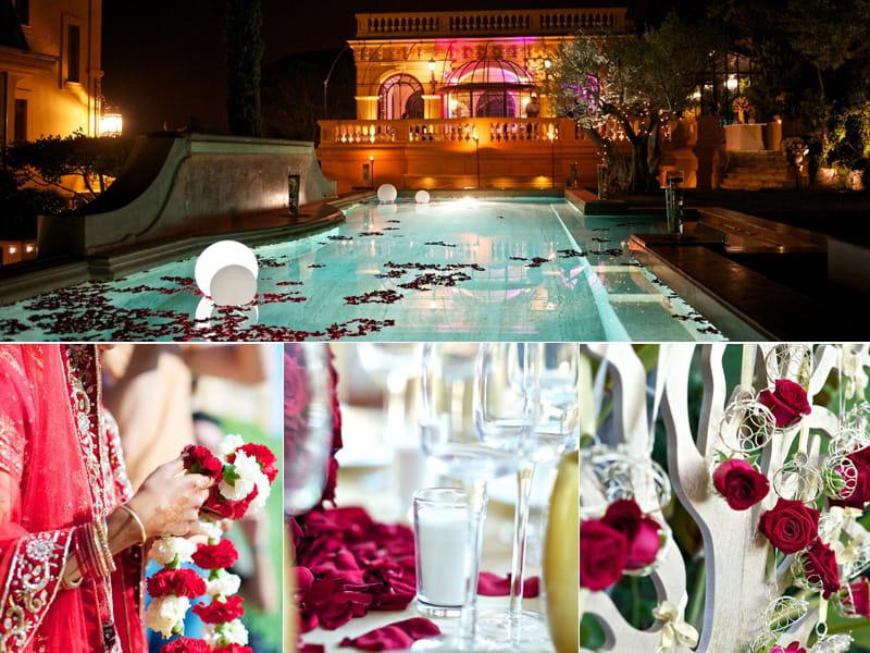 Un mariage hindou rouge et or par autour d 39 une histoire d coration de - Decoration mariage hindou ...