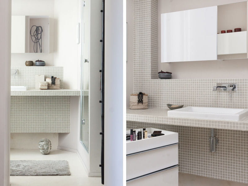 salle de bains carrel e vert d 39 eau des salles de bains de d corateurs journal des femmes. Black Bedroom Furniture Sets. Home Design Ideas