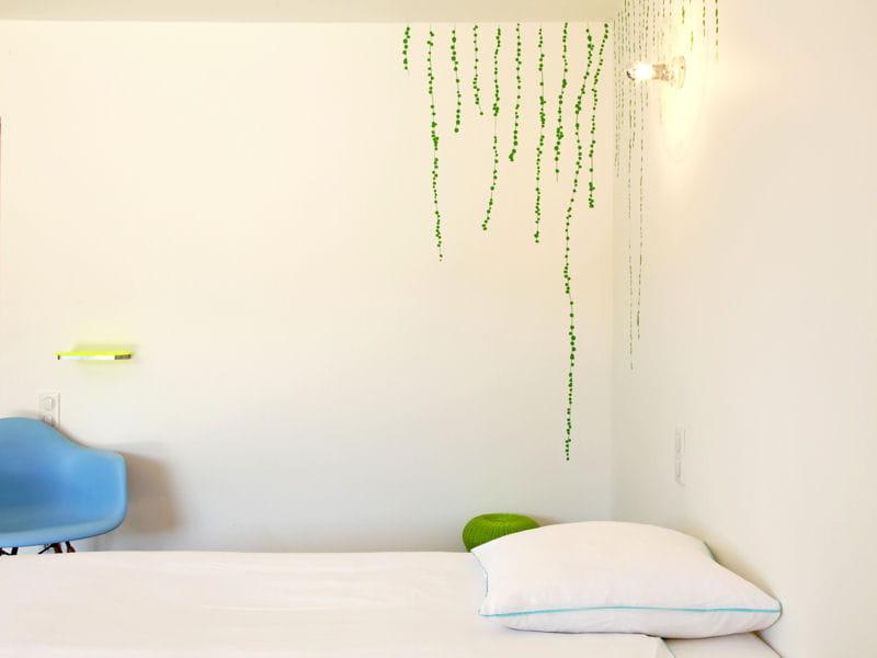 Touche de couleurs dans une chambre blanche chambre - Couleur dans une chambre ...