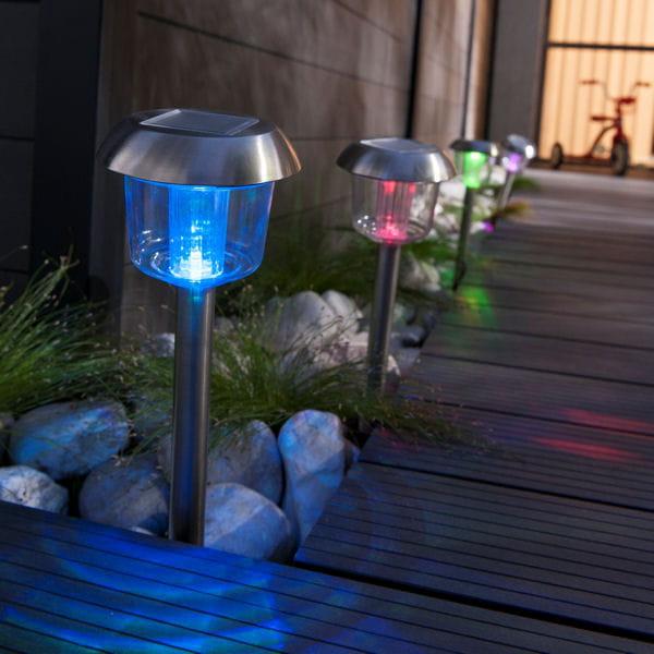 Borne solaire planter ramie de castorama - Borne solaire jardin ...