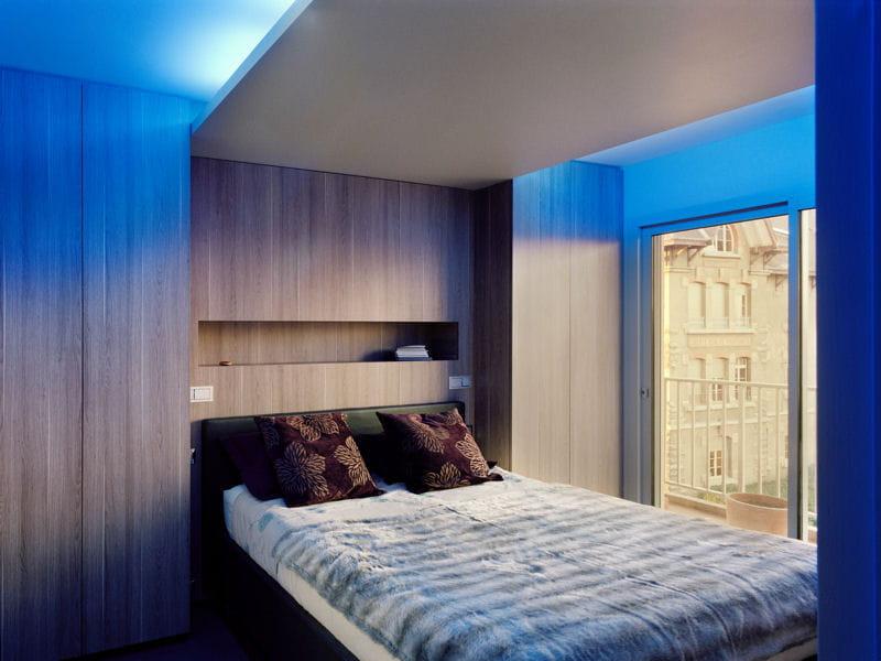 Une chambre contemporaine et intimiste d co bleue il for Deco chambre contemporaine