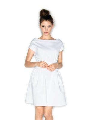 robe blanche patineuse de naf naf robes blanches les plus beaux mod les de l 39 t journal. Black Bedroom Furniture Sets. Home Design Ideas