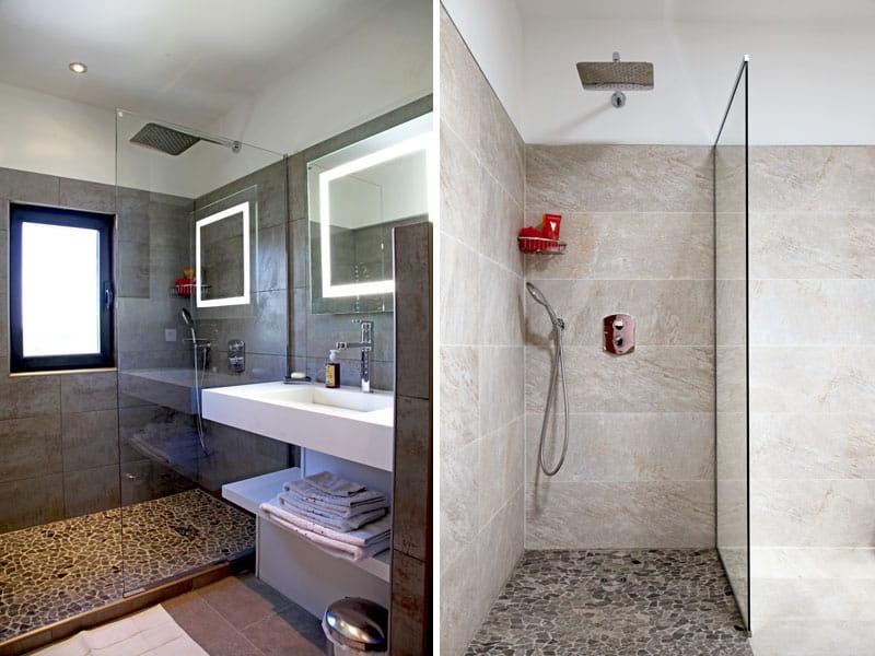Des salles de bains contemporaines une maison rouge l for Photo salle de bain contemporaine