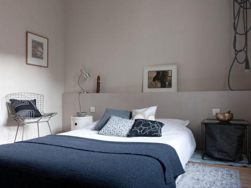 Chambre grise et bleu ~ décoration d\'intérieur