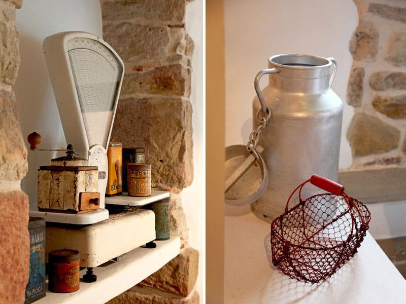 balance et pot de lait esprit brocante dans une ferme basque journal des femmes. Black Bedroom Furniture Sets. Home Design Ideas