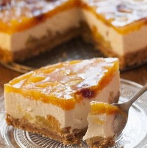 Cheesecake aux abricots 45 desserts sans allumer le four journal des femmes - Recette dessert sans four ...