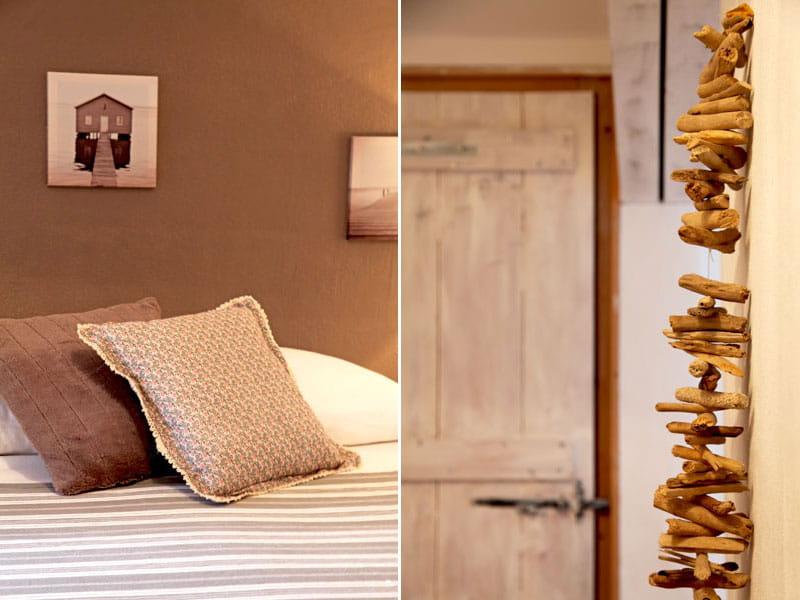 Coussin et bois flott une petite maison fa on brocante for Guirlande bois flotte