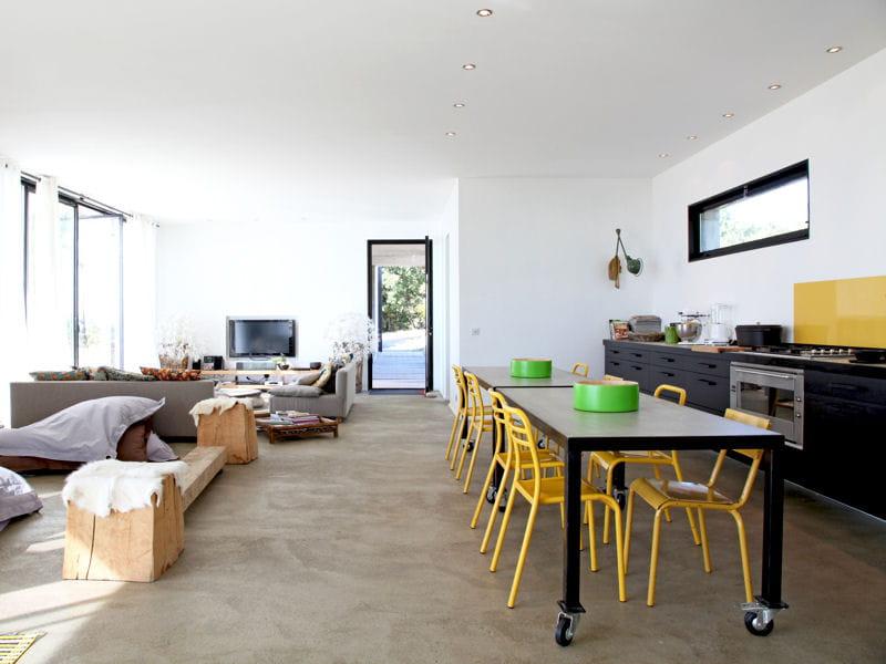 Une cuisine ouverte en longueur 40 cuisines ouvertes pratiques et esth tiq - Cacher une cuisine ouverte ...