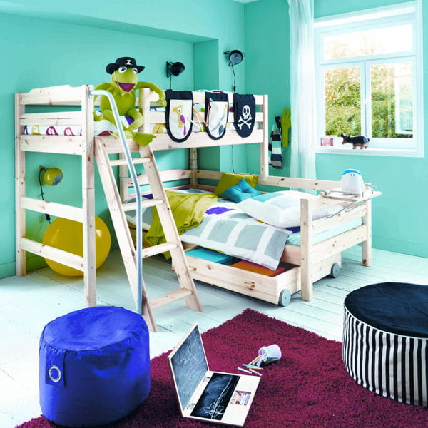 chambre pour enfant combi de fly lit mezzanine notre s lection gain de place journal des. Black Bedroom Furniture Sets. Home Design Ideas