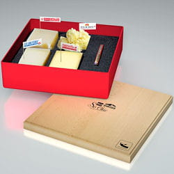 coffret plateau so swiss so chic ouvert