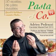 couverture de 'pasta & co', son livre de cuisine disponible à partir du 30