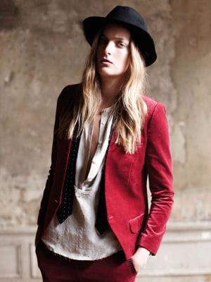 veste de tailleur rouge de zadig et voltaire vestes trenchs et blousons de mi saison pour. Black Bedroom Furniture Sets. Home Design Ideas
