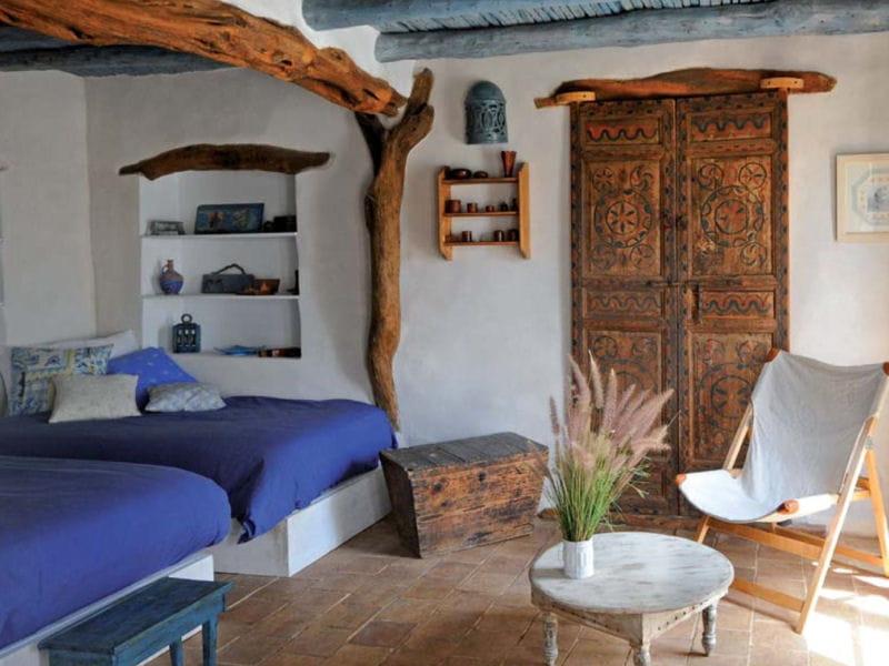 chambre bleue maison entre charme et tradition au maroc journal des femmes. Black Bedroom Furniture Sets. Home Design Ideas