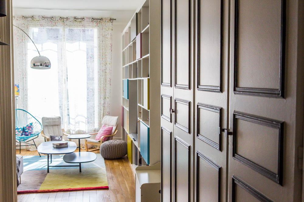 Un coup de peinture dans l 39 entr e un appartement acidul for Peinture pour une entree