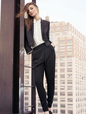 tailleur pantalon esprit smoking de mango jolies tenues. Black Bedroom Furniture Sets. Home Design Ideas