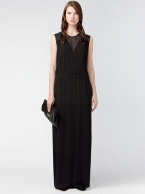 Robe noire maxi de g rard darel jolies tenues pour for Robe maxi au mariage