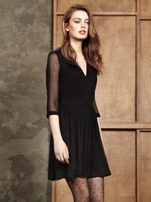 robe noire manches plumetis de pablo la folie des. Black Bedroom Furniture Sets. Home Design Ideas