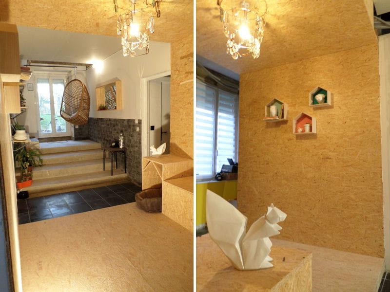 influence scandinave dans l 39 entr e la maison de laura une grange fa on loft journal des femmes. Black Bedroom Furniture Sets. Home Design Ideas