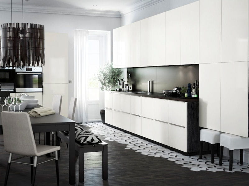 une cuisine noire et blanche pur e cuisine la. Black Bedroom Furniture Sets. Home Design Ideas