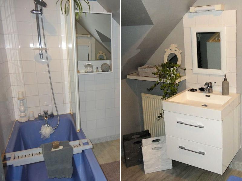Salle de bains f minine la maison d 39 anne une ancienne - Salle de bain feminine ...