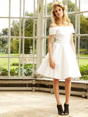 robe de mari e courte de delphine manivet pour la redoute 18 robes pour votre mariage civil. Black Bedroom Furniture Sets. Home Design Ideas