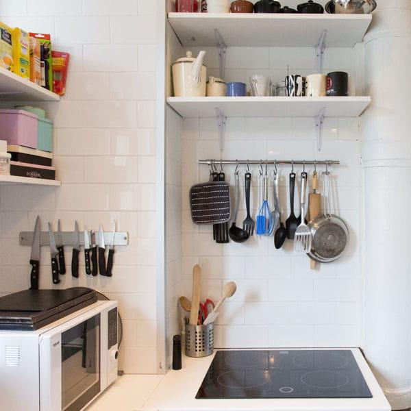 Rangement en suspension petite cuisine comment l for Petite suspension cuisine