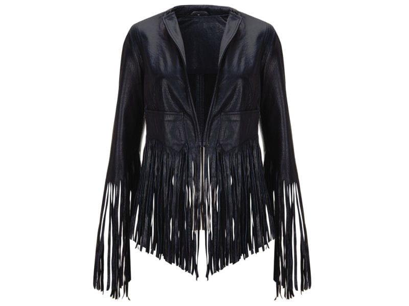 veste cuir rock franges elle arrive elle arrive la nouvelle collection kate moss pour. Black Bedroom Furniture Sets. Home Design Ideas