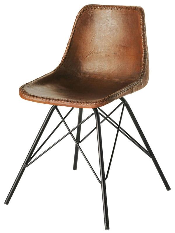 chaise vintage en cuir marron je veux le m me la maison un s jour scandinave journal des. Black Bedroom Furniture Sets. Home Design Ideas