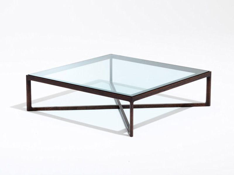 Table basse naturelle en verre et bois je veux le m me - Table basse conran shop ...