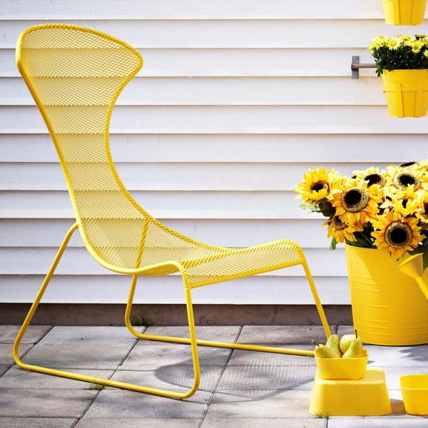 Fauteuil jaune soleil - Fauteuil de jardin ikea vago pau ...