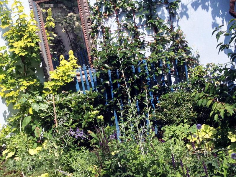 Un miroir pour agrandir lespace : Un mini jardin de ville comme un ...