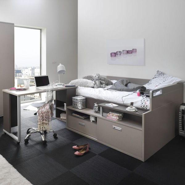 un espace combin sommeil et travail des lits ing nieux pour gagner de la place journal. Black Bedroom Furniture Sets. Home Design Ideas