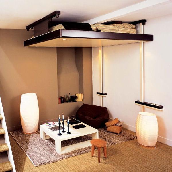 Un lit mobile dans votre salon des lits ing nieux pour for Lit dans le salon