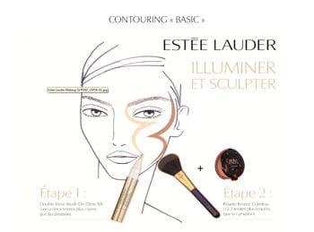 le contouring 'basic' de patrick lorentz, senior make-up artist estée lauder.
