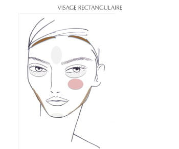 le contouring pour visage rectangulaire par patrick lorentz, senior make-up